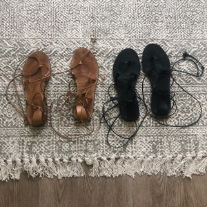 Madewell Wrap Ankle Sandals (2) pairs